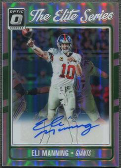 2016 Donruss Optic #4 Eli Manning The Elite Series Auto #05/20