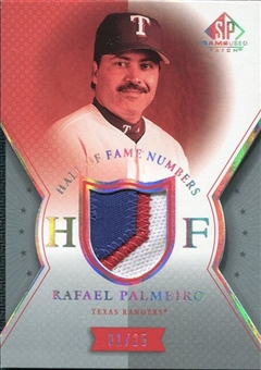 2004 SP Game Used Patch HOF Numbers #RP1 Rafael Palmeiro Rangers 1/25