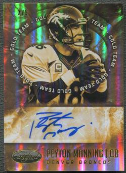 2014 Certified #3 Peyton Manning Gold Team Auto #2/5