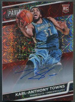 2016 Panini National Convention VIP #10 Karl-Anthony Towns Kaleidoscope Red Rookie Auto #09/10