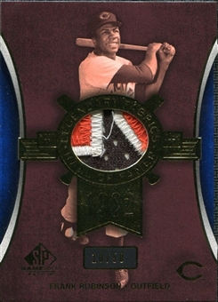 2004 SP Game Used Patch Legendary Fabrics #FR1 Frank Robinson Reds 10/50