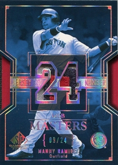 2004 SP Game Used Patch MLB Masters #MR Manny Ramirez 9/24