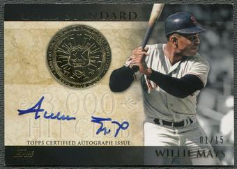 2012 Topps #WM Willie Mays Gold Standard Auto