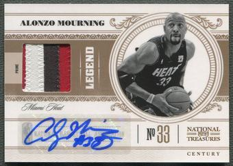 2010/11 Playoff National Treasures #130 Alonzo Mourning Patch Auto #02/10