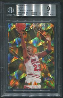 1997/98 Ultra #1 Michael Jordan Stars Gold BGS 9 (MINT)