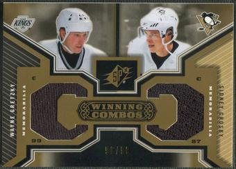 2005/06 SPx #WCGC Wayne Gretzky & Sidney Crosby Winning Combos Gold Jersey #96/99