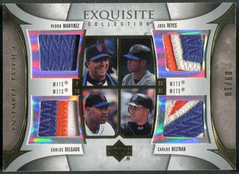 2006 Exquisite Collection #MRDB Carlos Delgado Carlos Beltran Pedro Martinez Jose Reyes Ensemble Quad Patch #0