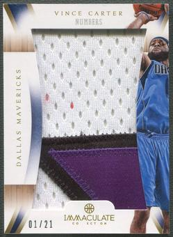 2012/13 Immaculate Collection #VC Vince Carter Numbers Patch #01/21