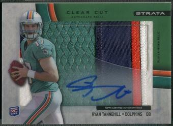 2012 Topps Strata #CCARRT Ryan Tannehill Clear Cut Rookie Green Patch Auto #05/55