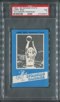"""1982/83 Indiana State Basketball #9 Larry Bird """"Sycamore Rampage"""" PSA 7 (NM)"""