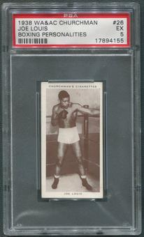 1938 WA&AC Churchman's Cigarettes #26 Joe Louis Boxing Personalities PSA 5 (EX)