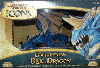WOTC Dungeons & Dragons Miniatures Gargantuan Blue Dragon Figure (box)
