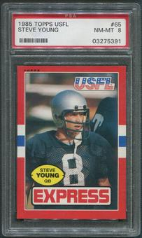1985 Topps USFL Football #65 Steve Young Rookie PSA 8 (NM-MT)