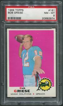 1969 Topps Football #161 Bob Griese PSA 8 (NM-MT)