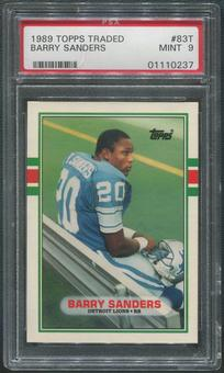 1989 Topps Traded Football #83T Barry Sanders Rookie PSA 9 (MINT)