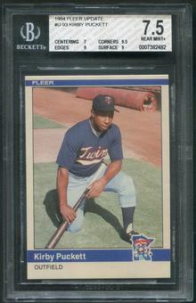 1984 Fleer Update Baseball #93 Kirby Puckett Rookie BGS 7.5 (NM+)