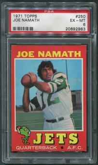 1971 Topps Football #250 Joe Namath PSA 6 (EX-MT)