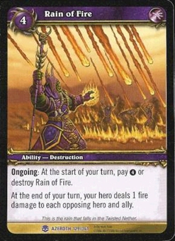WoW Azeroth Single Rain of Fire (HoA-129) NM/MT