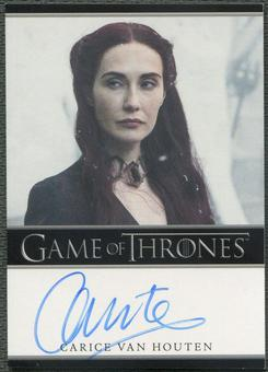 2016 Game of Thrones Season Five #NNO Carice Van Houten as Melisandre Auto