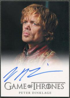 2013 Game of Thrones Season Two #NNO Peter Dinklage as Tyrion Lannister Auto