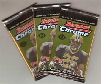 2006 Bowman Chrome Football Hobby Pack
