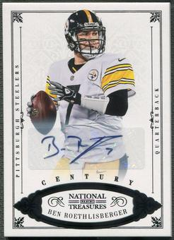 2012 Panini National Treasures #67 Ben Roethlisberger Century Black Auto #07/10