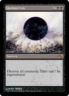 Magic the Gathering Planar Chaos Single Damnation - SLIGHT PLAY (SP)