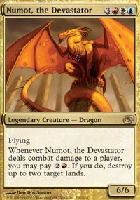 Magic the Gathering Planar Chaos Single Numot, the Devastator Foil