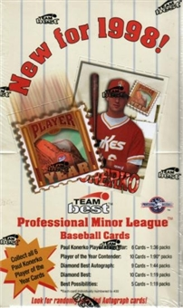 1998 Team Best Minor League Baseball Hobby Box