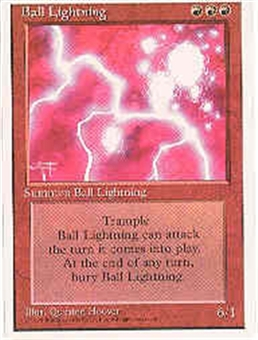 Magic the Gathering 4th Edition Single Ball Lightning - NEAR MINT (NM)