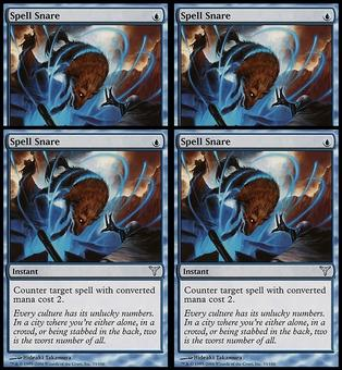 Magic the Gathering Dissension 4x PLAYSET Spell Snare - SLIGHT PLAY (SP)