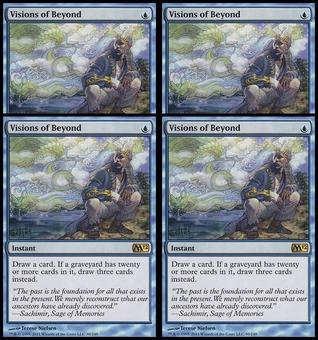 Magic the Gathering 2012 4x PLAYSET Visions of Beyond - NEAR MINT (NM)