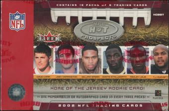 2002 Fleer Hot Prospects Football Hobby Box