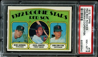 1972 Topps Baseball #79 Carlton Fisk Rookie PSA 8 (NM-MT) *5540