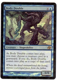 Magic the Gathering Planar Chaos Single Body Double FOIL