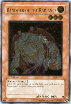 Yu-Gi-Oh Enemy of Justice Single Banisher of the Radiance Ultimate Rare - SLIGHT PLAY (SP)