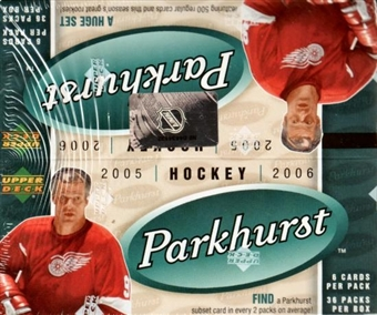 2005/06 Upper Deck Parkhurst Hockey 36 Pack Box
