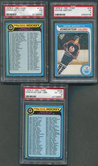 1979/80 O-Pee-Chee Hockey Complete Set (EX) With 3 Graded PSA Cards