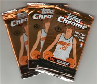 2006/07 Topps Chrome Basketball Hobby Pack