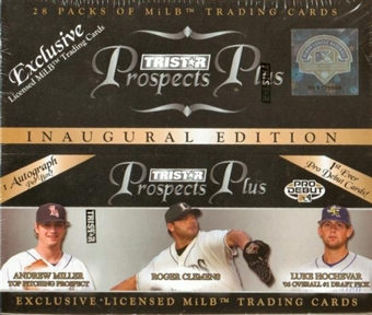 2006 TriStar Prospects Plus Baseball 28 Pack Box