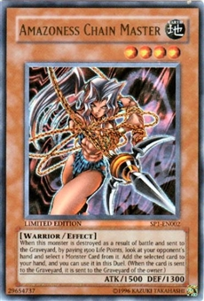 Yu-Gi-Oh Promo Single Amazoness Chain Master Ultra Rare (SP1-EN002)
