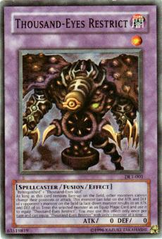 Yu-Gi-Oh Duelist League Single Thousand-Eyes Restrict Super Rare