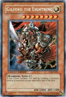 Yu-Gi-Oh Limited Edition Tin Single Gilford the Lightning Secret Rare (CT2-EN001