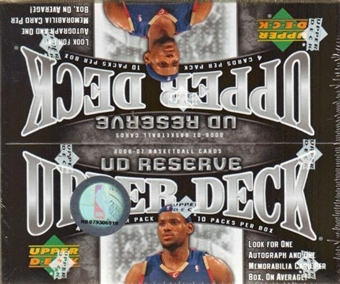 2006/07 Upper Deck Reserve Basketball Hobby Box