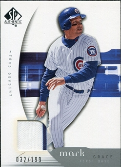 2005 Upper Deck SP Authentic Jersey #63 Mark Grace /199