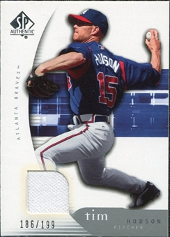 2005 Upper Deck SP Authentic Jersey #92 Tim Hudson /199