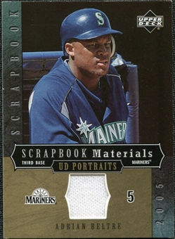 2005 Upper Deck UD Portraits Scrapbook Materials #AB Adrian Beltre Jersey