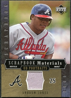 2005 Upper Deck UD Portraits Scrapbook Materials #AJ Andruw Jones Jersey