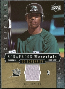 2005 Upper Deck UD Portraits Scrapbook Materials #BU B.J. Upton Jersey