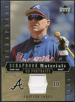 2005 Upper Deck UD Portraits Scrapbook Materials #CJ Chipper Jones Jersey